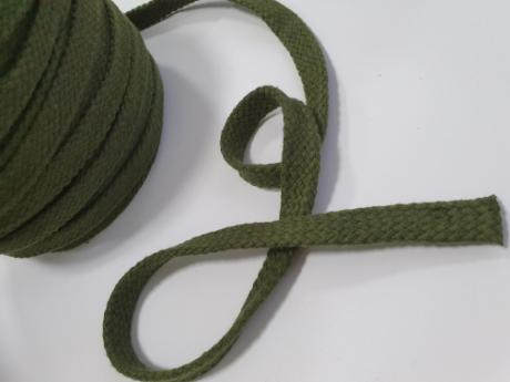 Шнурки плоские хб хаки 15мм 150см ШП029