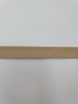 Тесьма киперная бежевый хлопок 2,5г/см 10мм ТК063