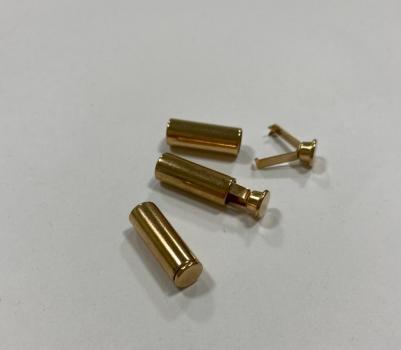 Наконечник для шнура металл Никель золото НК003