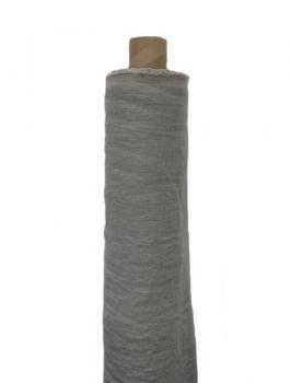 Ткань костюмная эффект мятости 100% лен 145см Пепельный ЛК021