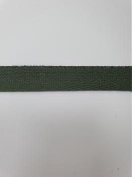 Тесьма киперная хаки хлопок 1,8г/см 13мм ТК091