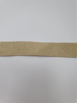 Тесьма киперная бежевый хлопок 2,5г/см 15мм ТК095